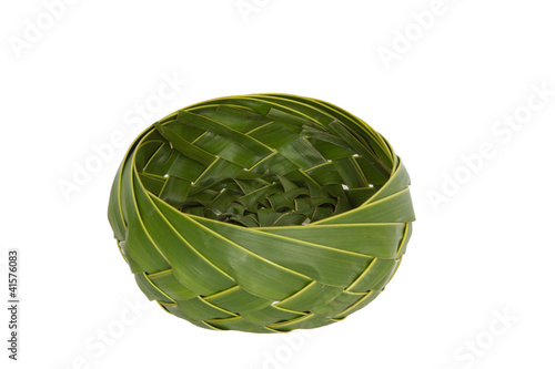 Basket  made form coconut leaf