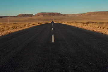 paved road in the desert