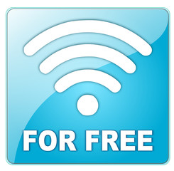 Icon blau Wlan for free