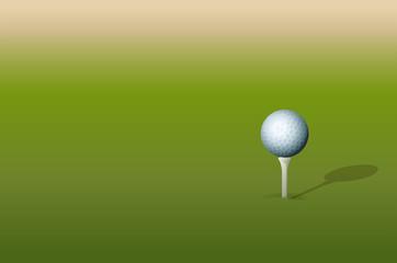 Tee and golf ball