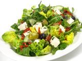 Blattsalate mit Feta Käsa