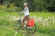 Senior lady cyclist