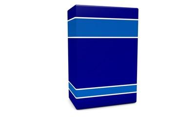 Blue empty box