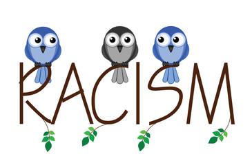 Racism twig text representing intolerance