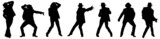 Silhouette of the man, Michael Jackson dancing in style