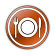 "Orange Glossy Button ""Eatery / Restaurant"""