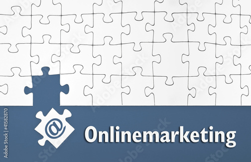Puzzle mit Onlinemarketing
