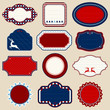 Set Of Christmas Frames Red/Dark Blue/Beige