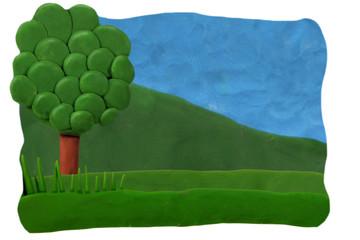 Plasticine background