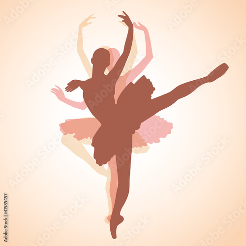 Sticker dancing ballerina