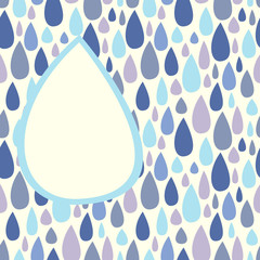 Background with raindrops pattern