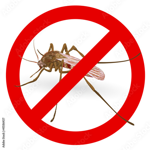Stop mosquito sign.