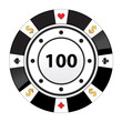 special black poker chip