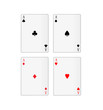 illustration of four aces