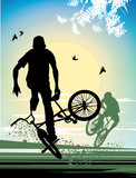 exercise extreme stunt cyclist poster