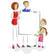 Family with Blank Board