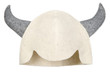 White bath cap with horns