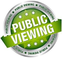 "Button Banner ""Public Viewing"" grün/silber"