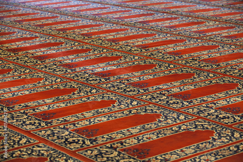Carpets in Selimiye Mosque, Edirne, Turkey