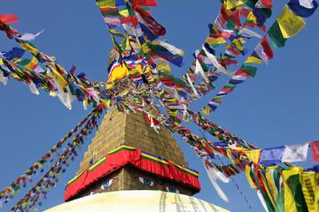 Prayer Flags at Bodunath Temple in Kathmandu