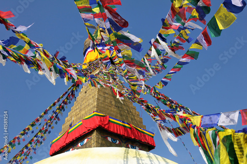 Prayer Flags at Bodunath Temple in Kathmandu