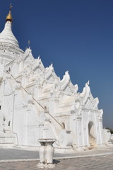 The Hsinbyume (Myatheindan) Pagoda, Mingun, Myanmar