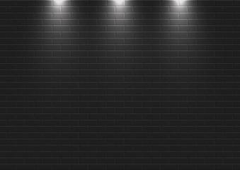 Gece vakti ışıklı duvar