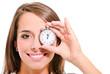 femme avec chronomètre