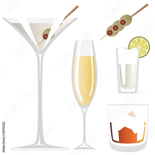 Vector Drink Glass