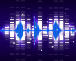 Sound waves set. Music background
