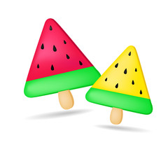 Melon Ice cream for kids (vector)