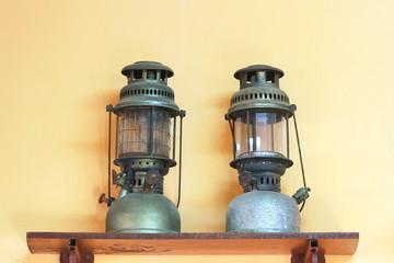 Old dusty oil lamp