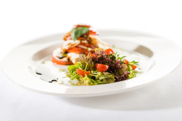 Fresh and delicious Caprese salad with tomatoes