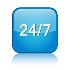 24/7 customer service web button