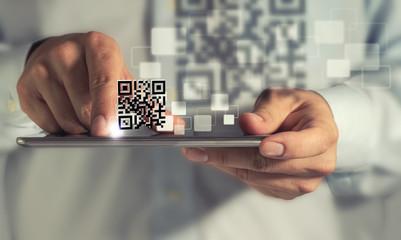 tablet computer Qr code scan