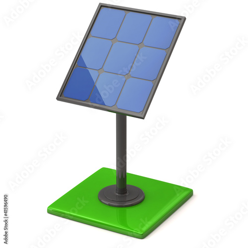 3d illustration of solar panel