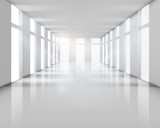 Fototapety Empty white interior. Vector illustration.