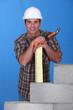 Portrait of a smiling tradesman