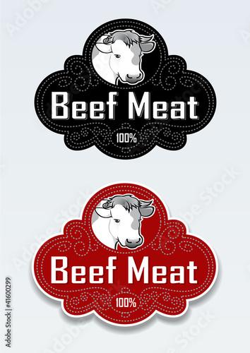 Beef Meat Seal / Sticker