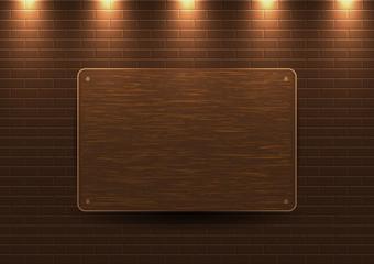 Ahşap tabelalı duvar