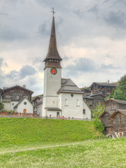 village settlement in canton Valais  Switzerland