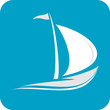 Boat, Yacht - isolated vector icon