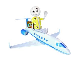 Man on the plane