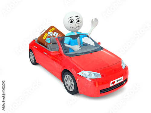Man in car