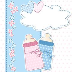 baby shower - nascita gemelli - femmina e maschio