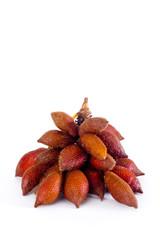 Thai sweet fruit, Zalacca isolated on white background
