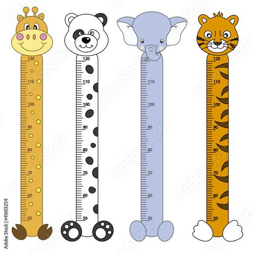 Medidor de pares para niños. Animales salvajes