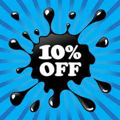 10% OFF BLACK BLOT