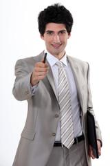 Businessman with a can-do attitude