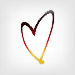 Herz mit Farben Deutschland